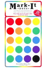 Mark-It Stickers Large Dot Stickers, Pack of 8 Colors #150