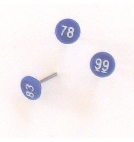 Moore Push Pin Small Numbered Maptacks, Dark Blue with White Numerals