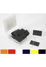 Moore Push Pin Rectangular Map Flags in 6 Colors