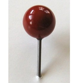 MapTacks.com Red Jasper Gemstone Map Pins, 24 ea.