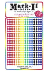 Mark-It Stickers 1/8 inch Sticker Dots, Pack of 8 Colors #109