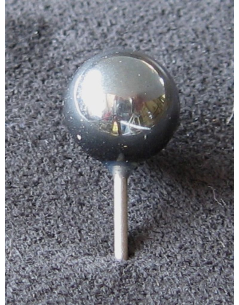 MapTacks.com Hematite Gemstone Map Pins, 5 ea.