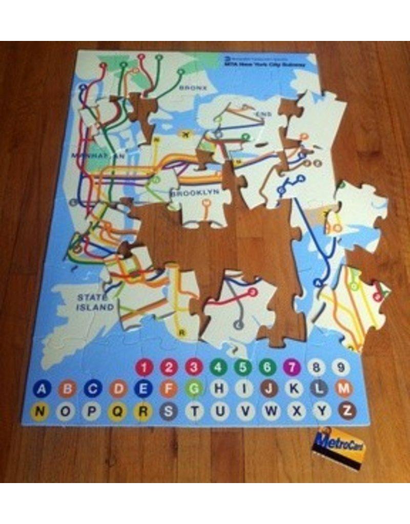 Nyc Subway Map Puzzle.Puzzle New York City Subway Kids
