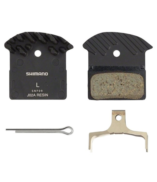 Shimano J02A Disc Brake Pads Resin with Fin