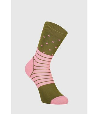 Mons Royale Womens All Rounder Crew Sock Khaki Rose