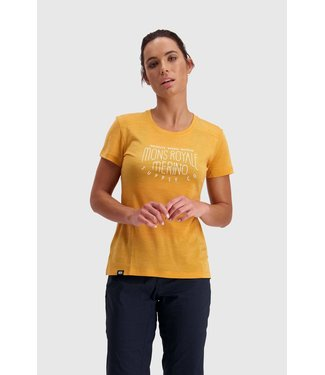 Mons Royale Womens Vapour Tee Gold