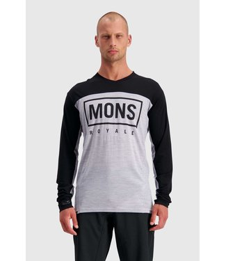Mons Royale Mens Redwood Enduro VLS Black / Grey Marl