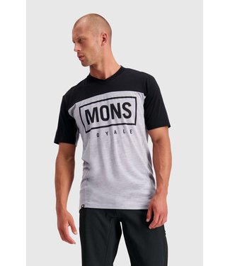 Mons Royale Mens Redwood Enduro VT Black / Grey Marl
