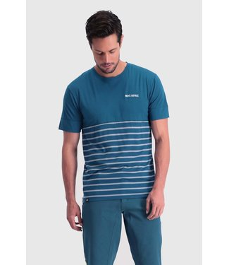 Mons Royale Mens Cadence T Oily Blue / Latitude Stripe