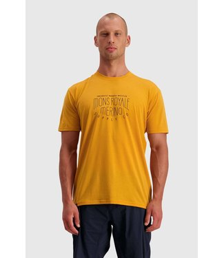 Mons Royale Mens ICON T-Shirt Gold
