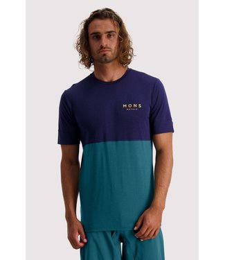 Mons Royale Mens Cadence T Deep Teal/ Navy
