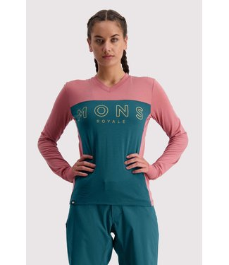 Mons Royale Womens Redwood Enduro VLS Deep Teal / Pink Clay