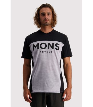 Mons Royale Mens Redwood Enduro VT Black / Grey Marl
