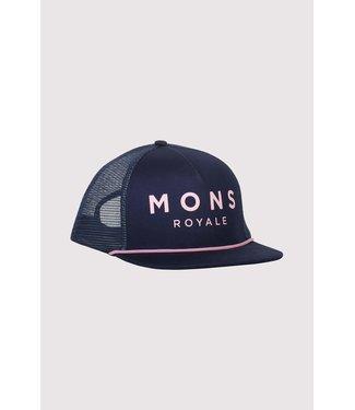 Mons Royale The ACL Trucker Cap Dark Denim/ Powder Pink