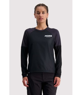 Mons Royale Womens Tarn Freeride LS Wind Jersey Black