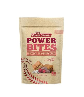 Em's Em's Power Cookie Bites Chocolate Cranberry Craze Pouch 8x30g
