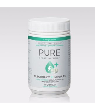 Pure Sports Nutrition PURE - ELECTROLYTE + CAPSULES W/30mg CAFFEINE (80 per BOTTLE)