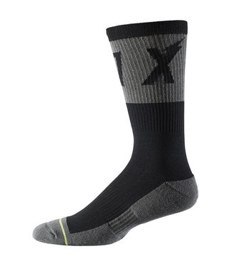 "Fox 8"" Trail Cushion Sock Wurd - Black"