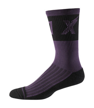 "Fox 8"" Trail Cushion Sock Wurd - Dark Purple"