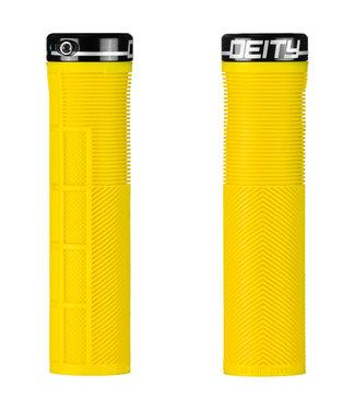 Deity Knuckleduster Lock-on Grips Yellow