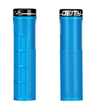 Deity Knuckleduster Lock-on Grips Blue