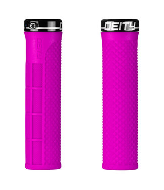 Deity Lockjaw Lock-on Grips Pink