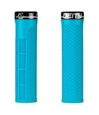 Deity Lockjaw Lock-on Grips Turquoise