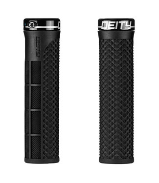 Deity Lockjaw Lock-on Grips Black