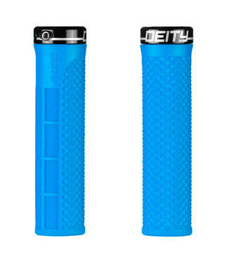 Deity Lockjaw Lock-on Grips Blue