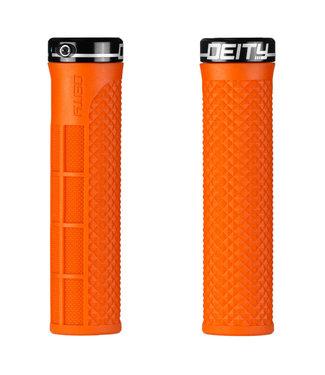 Deity Lockjaw Lock-on Grips Orange