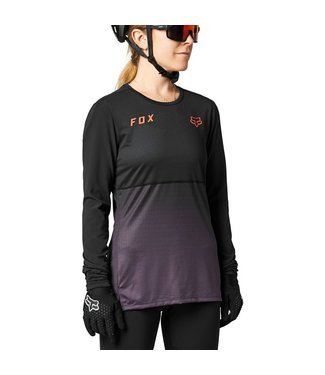 Fox Flexair Women's LS Jersey - Black/Purple