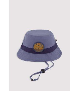 Mons Royale Unisex Mons Bucket Hat Mtn Art Patch Patch Blue Slate