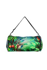 Reversible Weekender Bag Silver/Print