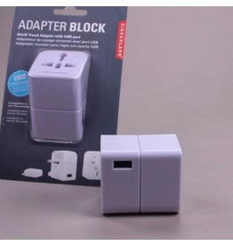 Kikkerland Travel Adapter Block