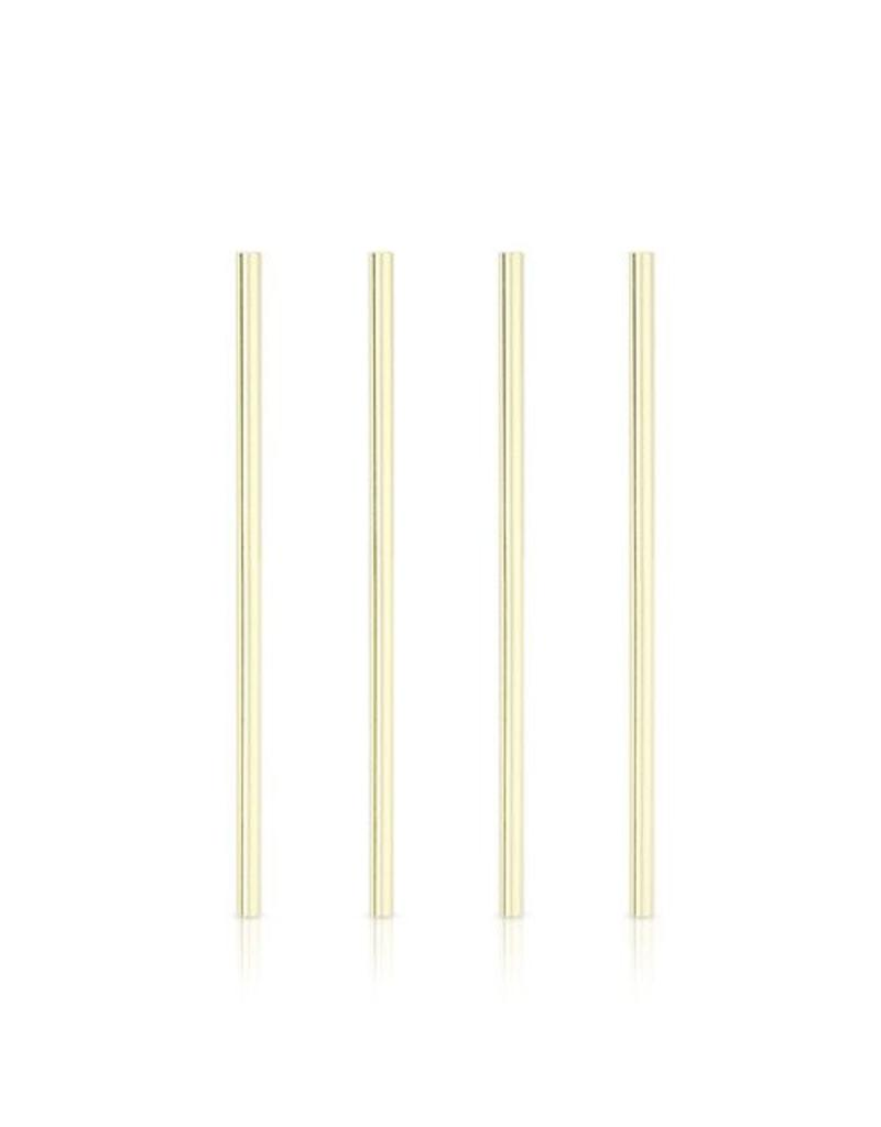 True Fabrications Gold Cocktail Straws