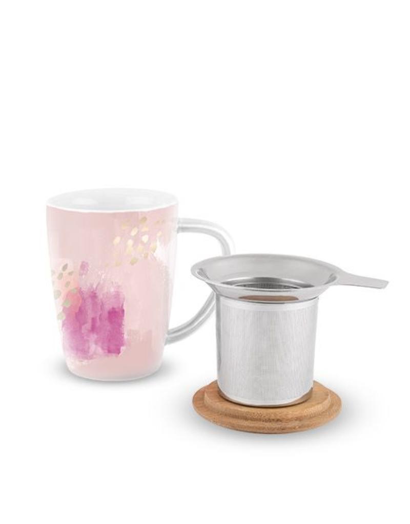 True Fabrications Bailey Tea Mug Infuser Pink