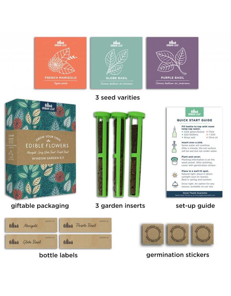 Urban Leaf Wine Bottle Window Garden 3 pack Kit