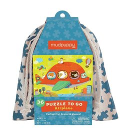 mudpuppy Airplane Puzzle to Go
