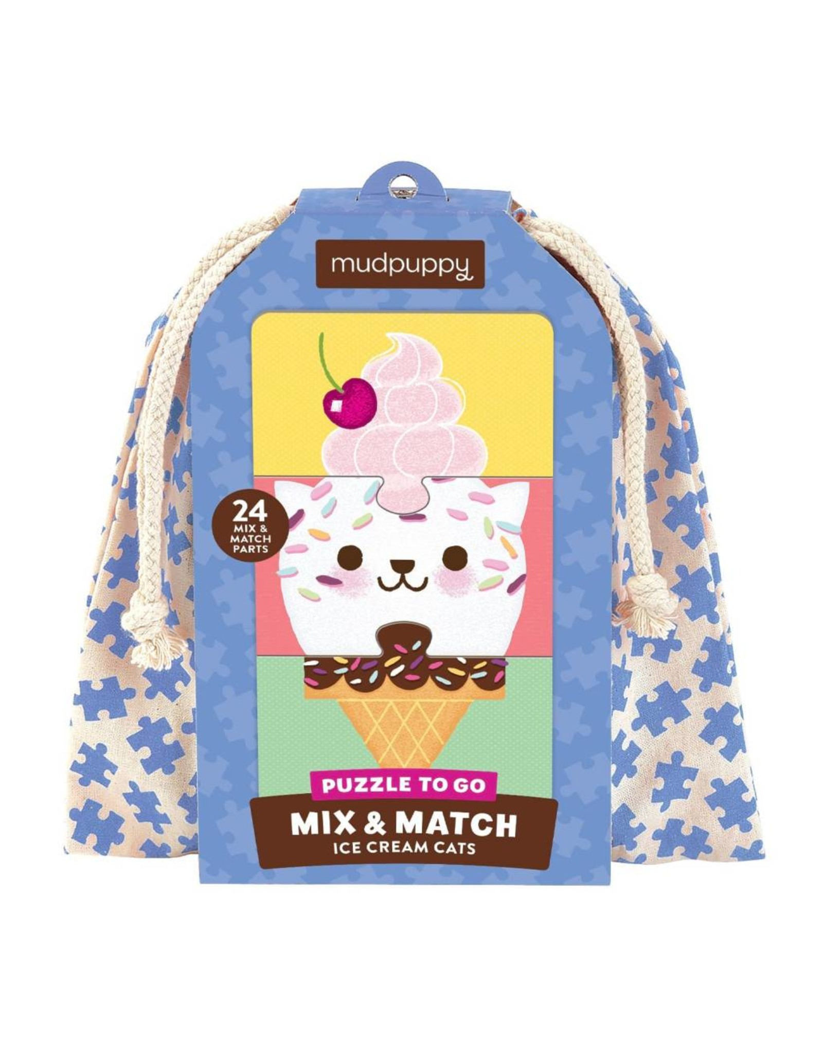 mudpuppy Ice Cream Cats Mix & Match Puzzle to Go