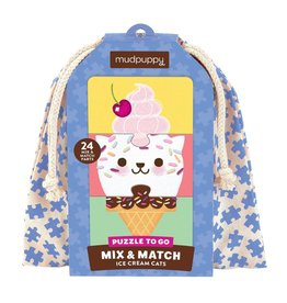 mudpuppy Ice Cream Cats Mix & Match Puzzle