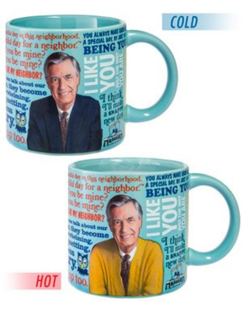 Unemployed Philosophers Guild Mister Rogers Changing Sweater Coffee Mug