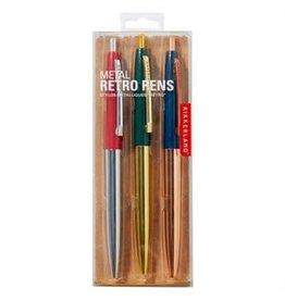Kikkerland Metallic Retro Pens