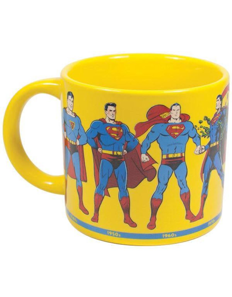 Unemployed Philosophers Guild Superman Through The Years Mug