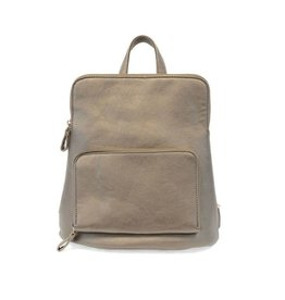 Joy Accessories Julia Mini Backpack - Metallic Khaki