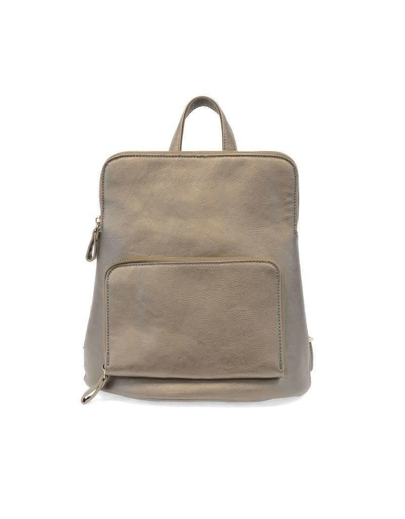 Joy Accessories Julia Mini Backpack in Metallic Khaki