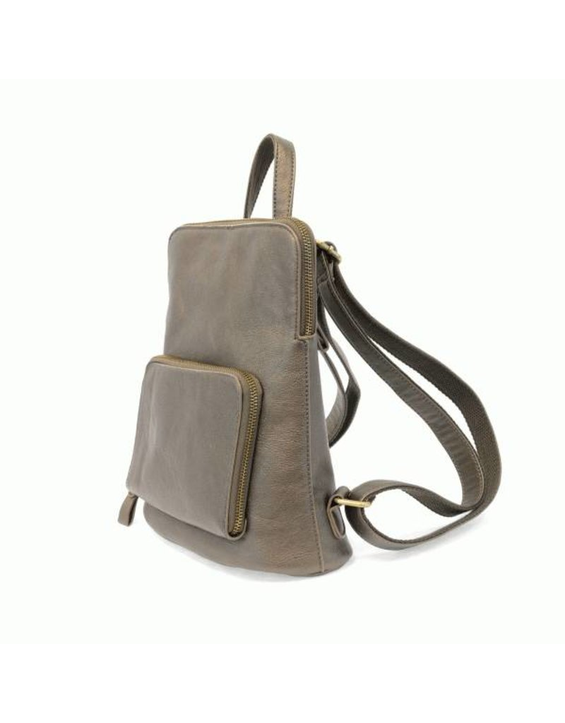 Julia Mini Backpack - Metallic Khaki