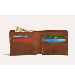 Kiko Leather Buck Bifold Wallet