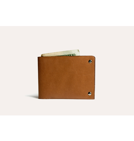 Kiko Leather Unstitched Billfold Wallet in Brown