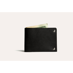 Kiko Leather Unstitched Billfold Wallet in Black