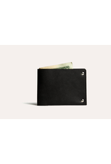 Kiko Leather Kiko Unstitched Billfold Wallet in Black
